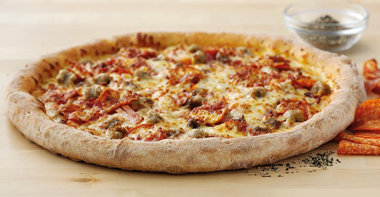 All The Meats Pizza from Papa John's Pizza Review