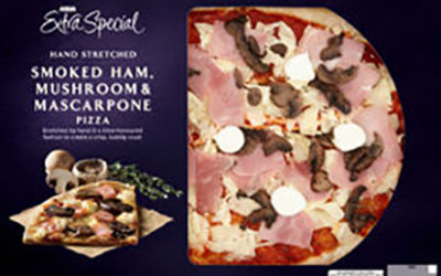 Smoked Ham, Mushroom & Mascarpone Pizza from ASDA