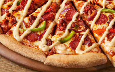 Catalan Chicken & Chorizo Pizza from Domino's