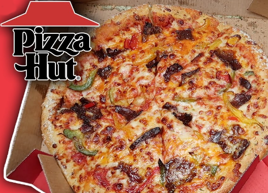 Filthy Steak Pizza With Jalapenos from Pizza Hut Review