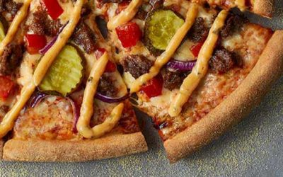 The Cheeseburger Pizza from Domino's