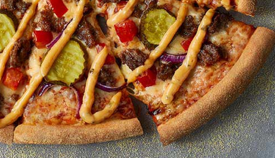 The Cheeseburger Pizza Review, The Cheeseburger Domino's