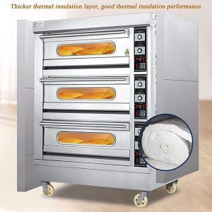 HXXXIN Commercial Pizza Oven, Three-Layer Large-Scale Pizza Oven