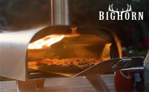 Big Horn Outdoors Pizza Oven, Wood Fired Pizza Maker, Portable Grill