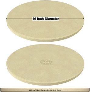 CastElegance Pizza Stone, Only Stoneware with Thermarite