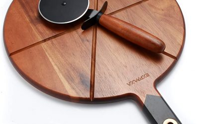 EXPPAZA Wooden Pizza Cutting Board Set