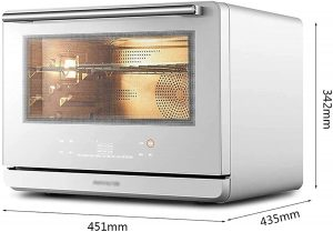 FMHCTN Commercial Tabletop Pizza Oven, 26L Electric Steam Oven