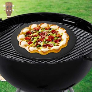 Goodview Household Pizza Stone, Pizza Baking Stone Round Ceramic
