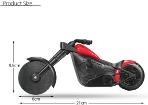 GuDoQi Motorbike Pizza Cutter, Creative Motorcycle Pizza Wheel.