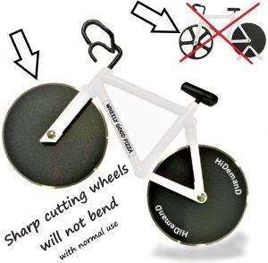 HiDemanD Bike Pizza Cutter Wheel, Pizza Bicycle Wheel Pizza Cutter.