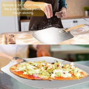Novosun Pizza Peel, Gourmet Luxury Pizza Paddle for Homemade Pizza