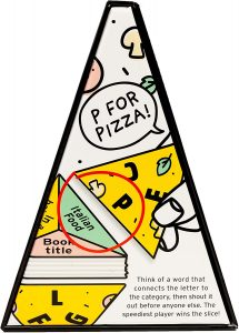 P for Pizza, Pizza Game, Family Word Game, Build a Giant Pizza Slice