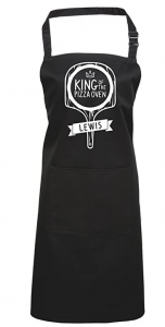 Pizza Cooking Apron, King of The Pizza Oven, Personalised Gift.