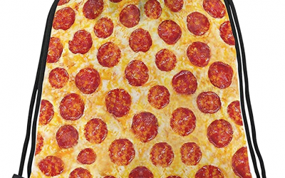 Pizza Drawstring Bag