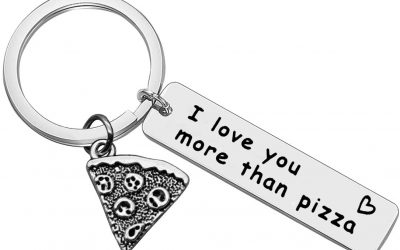 Pizza Keyring (I Love You More Than Pizza)