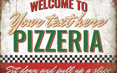 Toasted Merch Personalised Pizza Sign