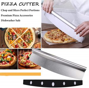 WHONOS Pizza Peel Tools Set, Pizza Cutter & Paddle, Homemade Pizza
