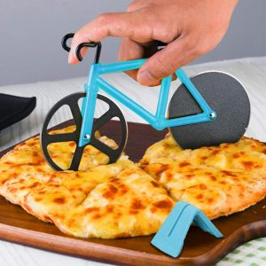 ZAWTR Bicycle Pizza Cutter, Bike Pizza Cutter Novelty Pizza Wheel